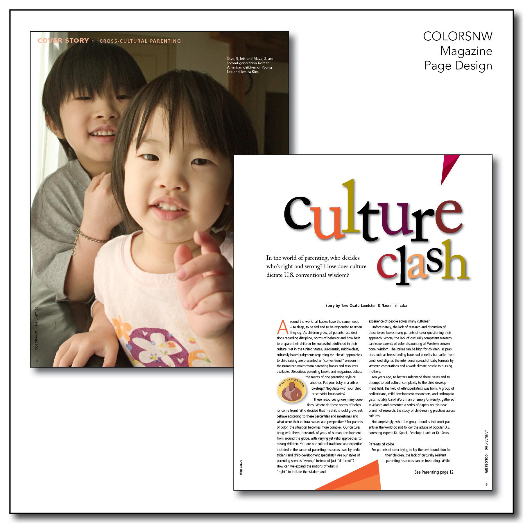 Page design colorsnw magazine